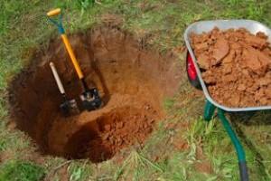 Выкопка ям