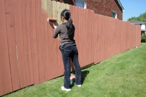 Как-раскрасить-забор-на-даче