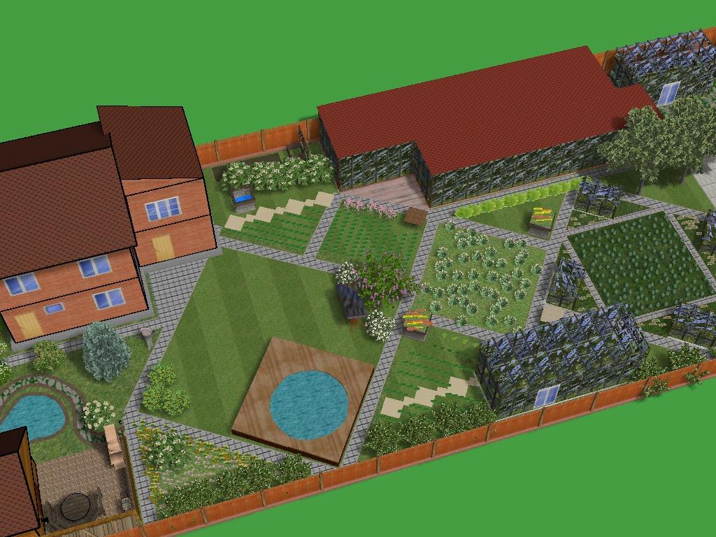 Ландшафтный дизайн узкого участка и проекты