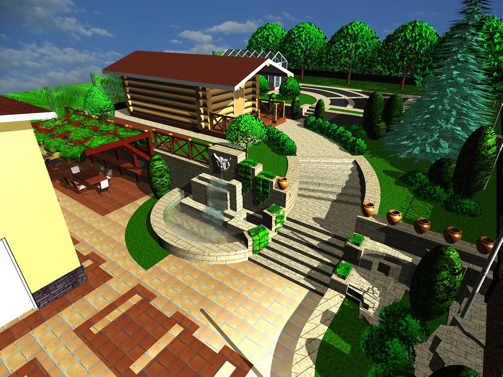 3д проект ландшафтного дизайна