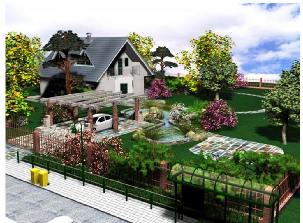 Дизайн участка с домом