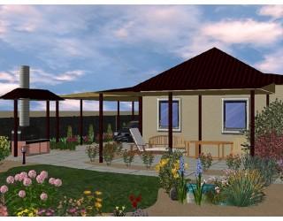 трехмерный проект садового дизайна